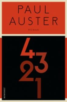 Titelseite von 4 3 2 1, Paul Auster